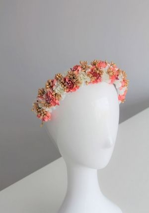 diadema de fiesta anafi en color coral ceres shop